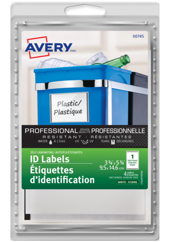 Avery<sup>&reg;</sup> Self-Laminating ID Labels Handwrite - Avery<sup>&reg;</sup> Self-Laminating ID Labels