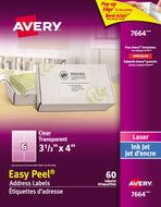Avery<sup>&reg;</sup> Clear Address Labels with Easy Peel<sup>&reg;</sup> 7664