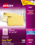 Avery<sup>&reg;</sup> Clear Address Labels with Easy Peel<sup>&reg;</sup> 7668