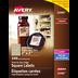 Avery<sup>&reg;</sup> Étiquettes carrées imprimables jusqu'au bord pour imprimantes à laser ou jet d'encre - Avery<sup>&reg;</sup> Étiquettes carrées imprimables jusqu'au bord