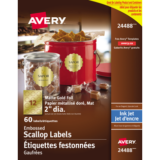 Avery® Matte Embossed Scalloped Labels