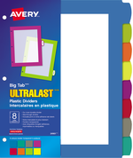 Avery<sup>&reg;</sup> Big Tab&trade; UltraLast&trade; Plastic Dividers 24901