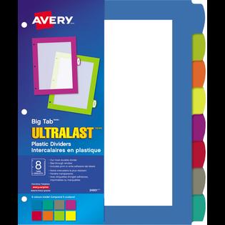 Avery® Big TabMCUltraLastMC Intercalaires en plastique