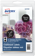 Avery<sup>&reg;</sup> Scalloped Round Chalkboard Labels 41720