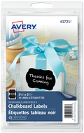 Avery<sup>&reg;</sup> Flourish Design Chalkboard Labels 41721