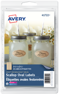 Avery<sup>®</sup> Scallop Oval Labels 41722