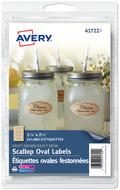 Avery<sup>&reg;</sup> Étiquettes ovales festonnées pour imprimantes à laser ou jet d'encre 41722