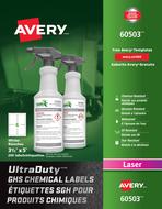 Avery<sup>&reg;</sup> Étiquettes SGH pour produits chimiques UltraDuty<sup>MC</sup> pour imprimantes à laser 60503