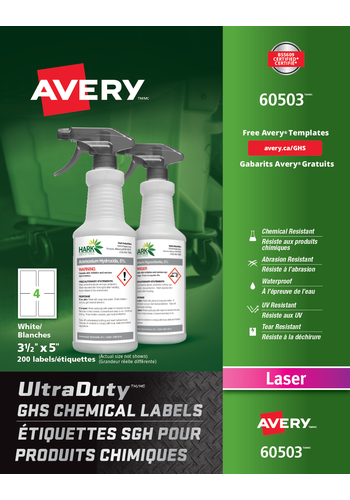 Avery<sup>®</sup> UltraDuty™ GHS Chemical Labels - Avery<sup>®</sup> UltraDuty™ GHS Chemical Labels