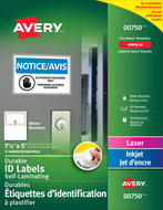Avery<sup>&reg;</sup> Easy Align&trade; Self-Laminating ID Labels 00750