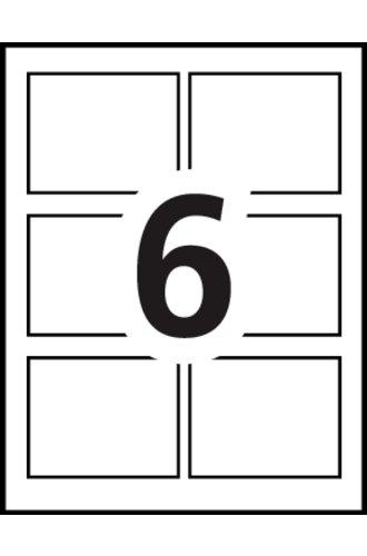 Avery® 5392 - Gabarit