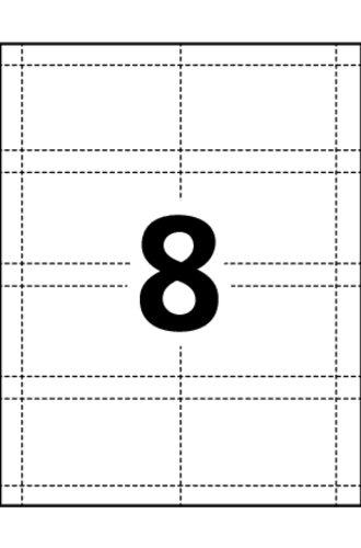 Avery® Cartes D'Affaires Perforées - 38373 - Gabarit
