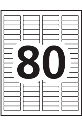Avery® Removable ID Labels - 6504 - Template
