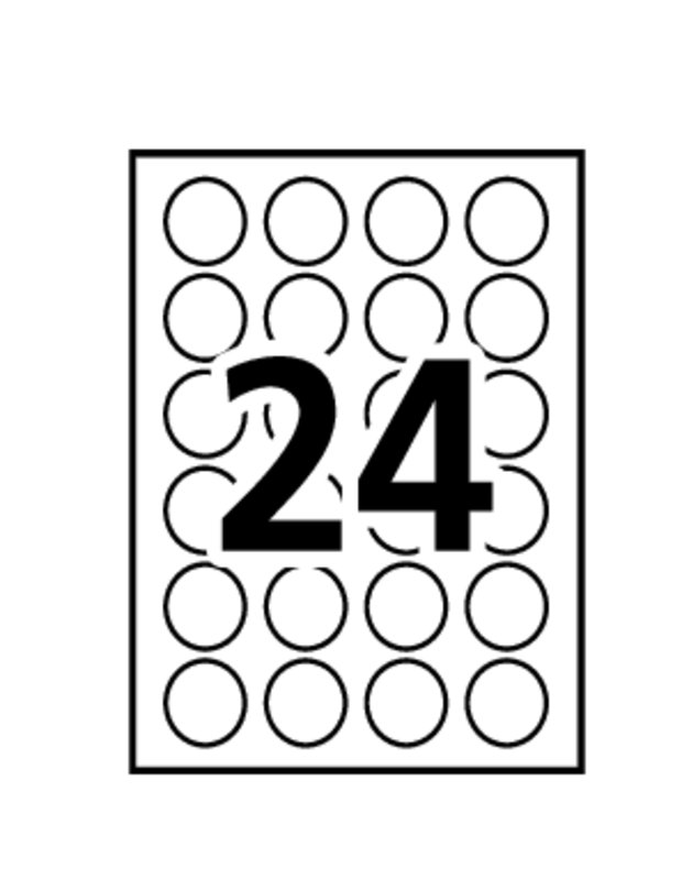 Avery 02102 Multi Use Removable Labels 34 Round White