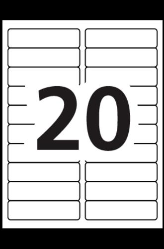 Avery Easy Peel Address Labels 5161 Template 20 labels per sheet