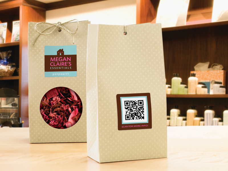 Products with QRcode labels