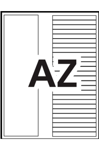 Avery® Ready Index® Table of Contents A-Z - 11125 - Word Template