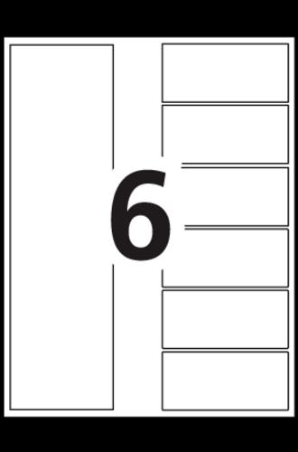 Avery® Intercalaires Avec Page De Table Des Matières Ready Index®  - 13152 - Gabarit