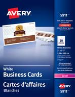 Avery<sup>&reg;</sup> Carte d'affaires perforées pour imprimantes à laser 5911