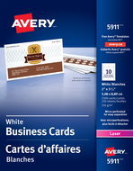 Avery<sup>&reg;</sup> Carte d'affaires perforées pour imprimantes à laser 5911