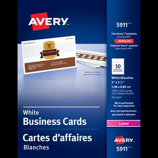Avery® Carte d'affaires perforées