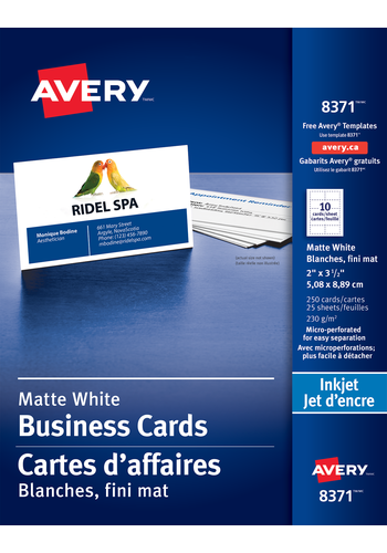 Avery<sup>®</sup> Perforated Business Cards - Avery<sup>®</sup> Perforated Business Cards