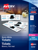 Avery<sup>&reg;</sup> Tickets with Tear-Away Stubs 16154