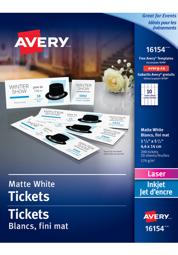 Avery<sup>&reg;</sup> Tickets with Tear-Away Stubs - Avery<sup>&reg;</sup> Tickets with Tear-Away Stubs