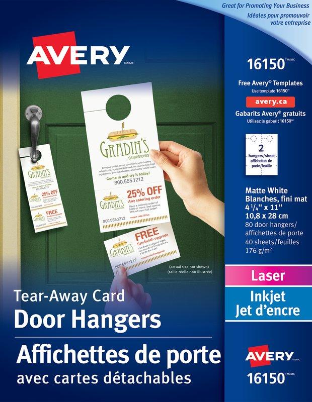 Avery 16150 Door Hangers 414 x 11 White – Consulting Services Door Hanger Template
