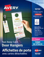 Avery<sup>&reg;</sup> Door Hangers with Tear Away Cards 16150