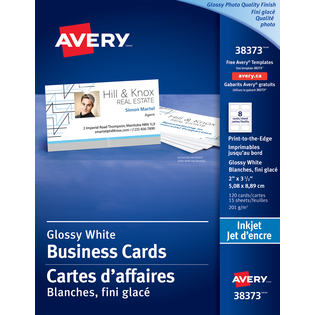 Avery® Glossy Photo Quality Business Cards