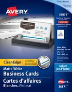 Avery<sup>&reg;</sup> Clean Edge<sup>&reg;</sup> Business Cards 38871