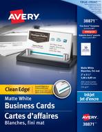Avery<sup>&reg;</sup> Carte d'affaires à coupe nette pour imprimantes à jet d'encre 38871