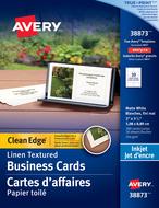 Avery<sup>&reg;</sup> Carte d'affaires à coupe nette pour imprimantes à jet d'encre 38873