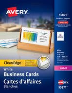 Avery<sup>&reg;</sup> Carte d'affaires à coupe nette pour imprimantes à laser 55871