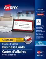 Avery<sup>&reg;</sup> Carte d'affaires à coupe nette pour imprimantes à jet d'encre 88220