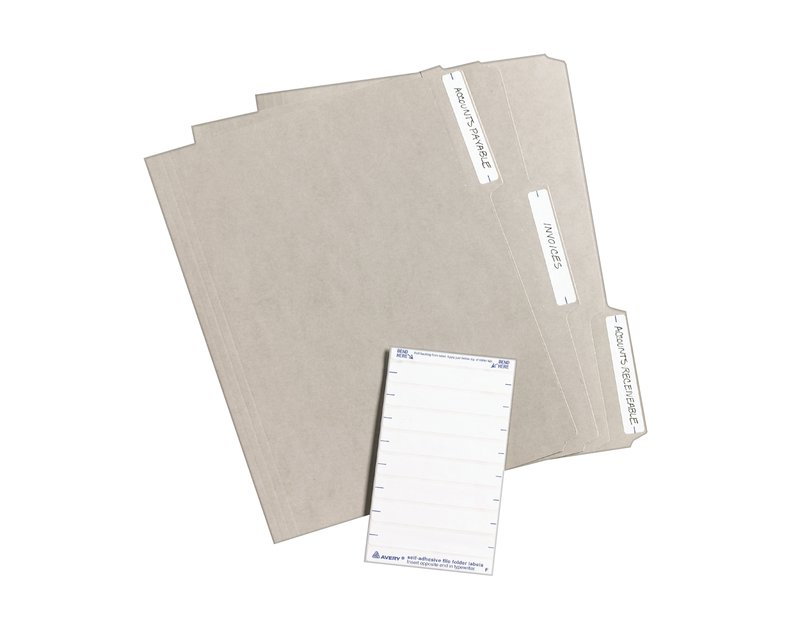 Avery 05202 File Folder Labels 3 12 X 58 Rectangle White