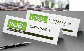 tent cards for business events