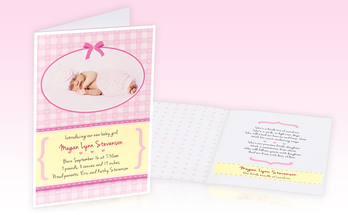 Birth greeting cards