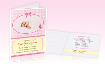 Birth greeting cards