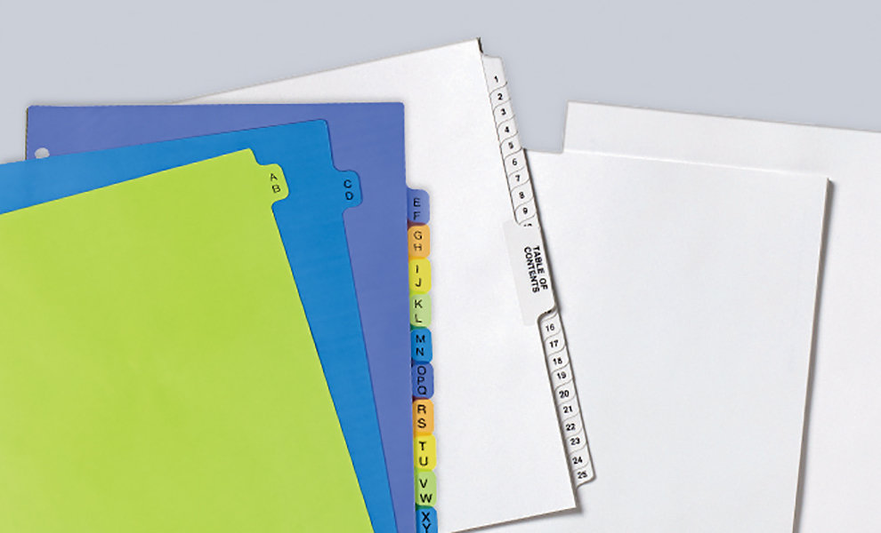 Avery Pre printed Dividers