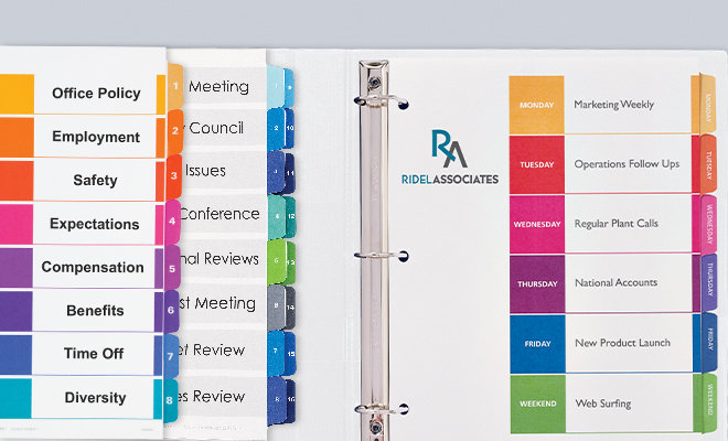 Avery Table of Contents Dividers