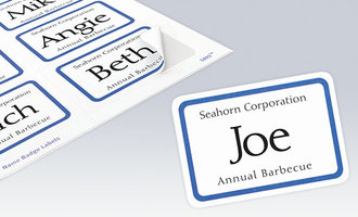 Name Badge Labels