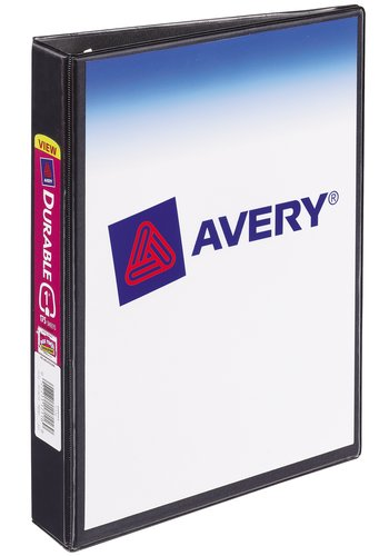 Avery® 17167 - Durable View Binder,  Holds 5½in. x 8½in. Paper, Black