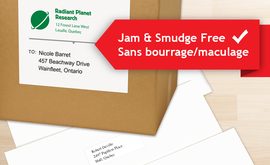 Jam Free Smudge Free Labels