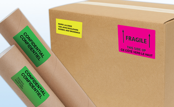 Shipping and Mailing Neon Labels
