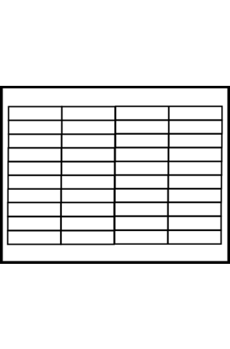 Avery® Hanging Folder Insert 11136 - Word Template