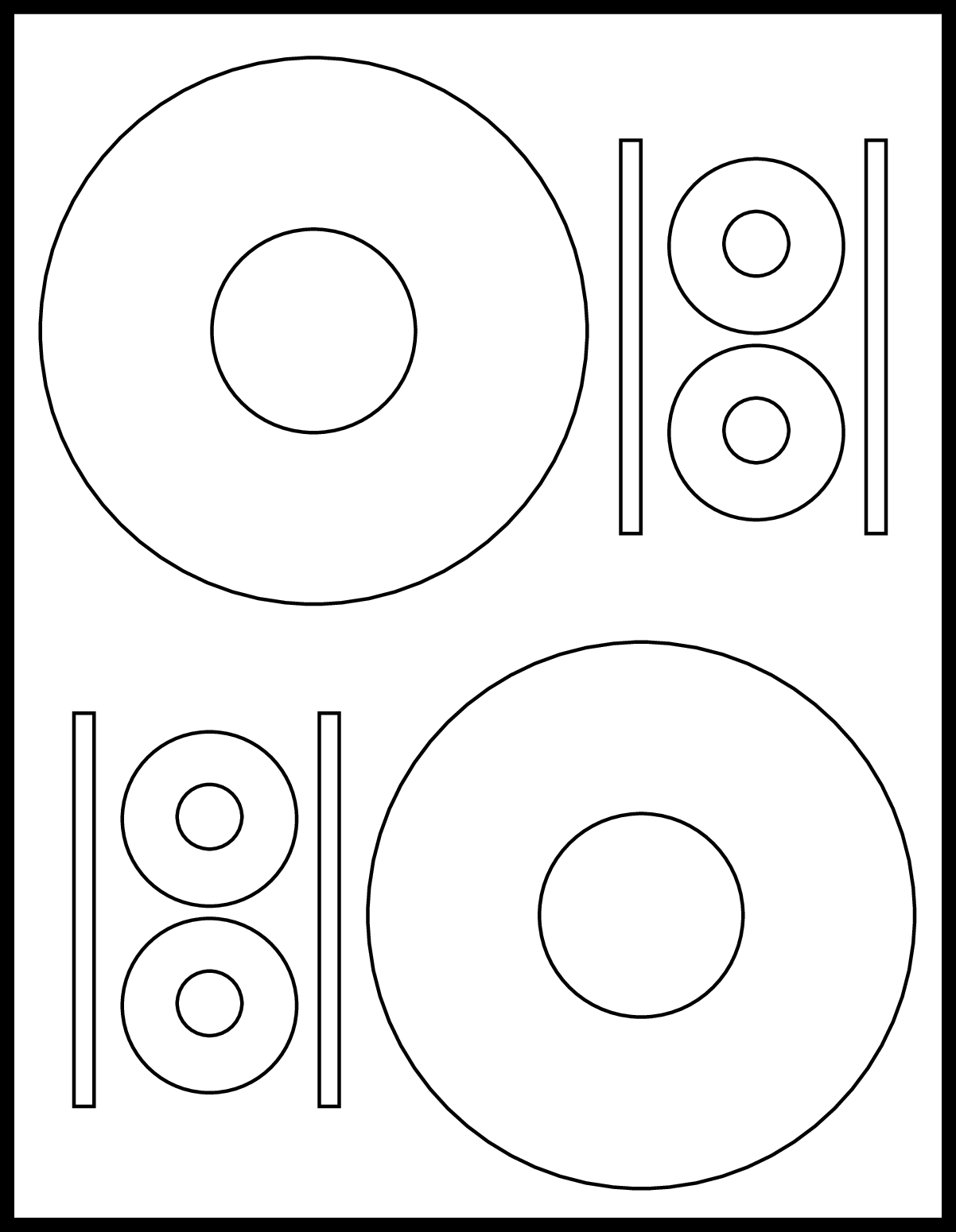 Avery 98102 template for Fellowes cd label template