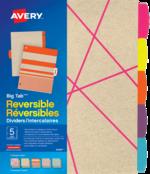 Avery<sup>&reg;</sup> Intercalaires réversibles Big Tab<sup>MC</sup> 24936
