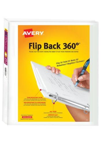 Avery® 17580 - Reliure de présentation Flip Back 360°  Pour 8½ in.x 11in. Papier, Blanc